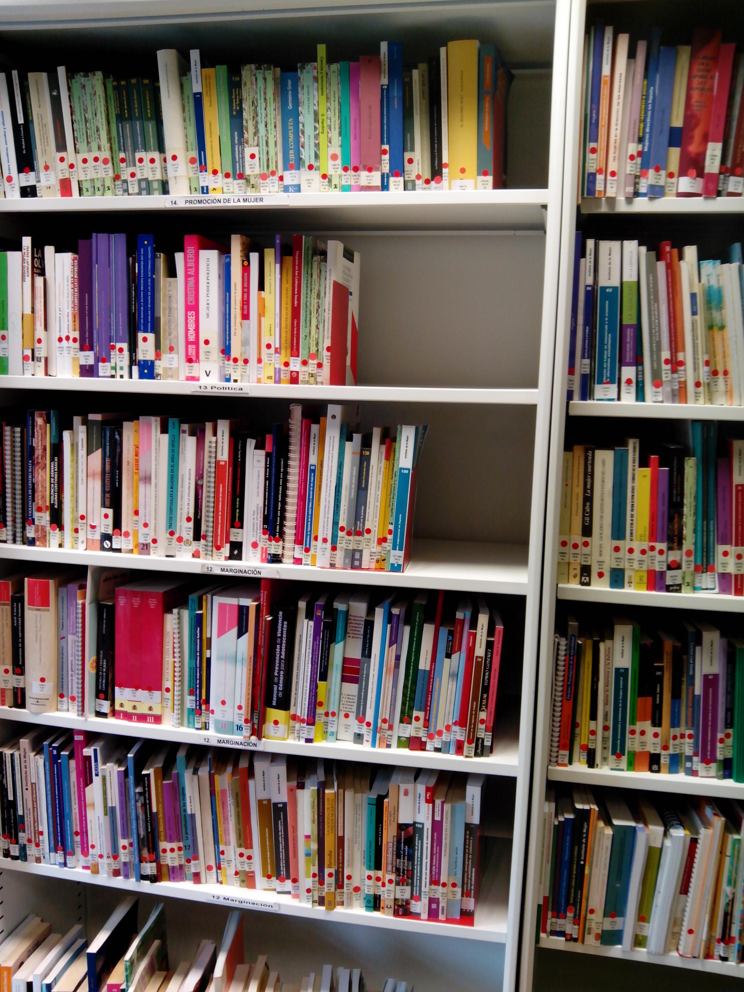 Imagen estantería Centro Documentación