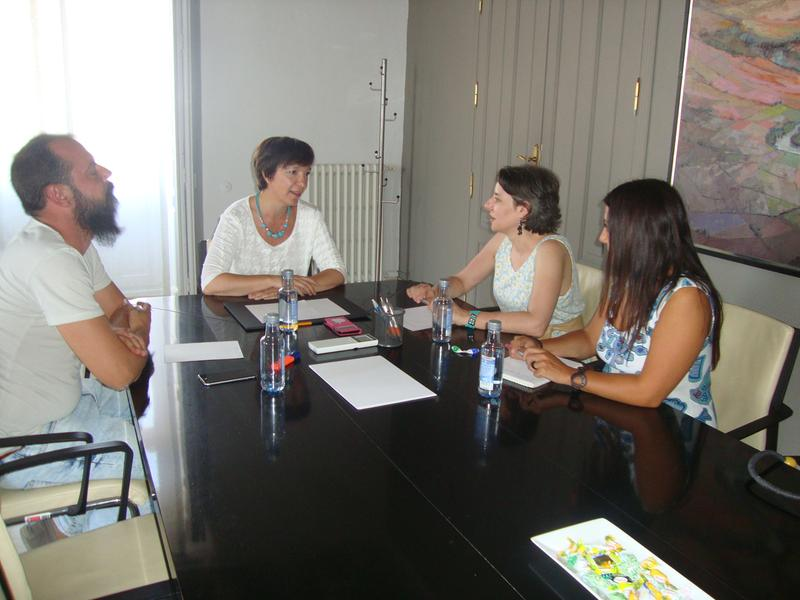 Araceli Martínez visita Alcázar de San Juan