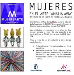 """Premios y Muestra Mujeres en el Arte """"Amalia Avía"""""""