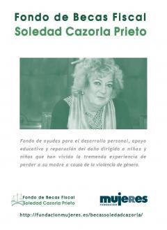 Portada folleto informativo Fondo Becas Soledad Cazorla