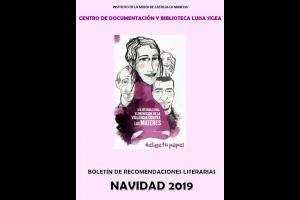 Boletín de recomendaciones literarias de personas adultas. Navidad de 2019